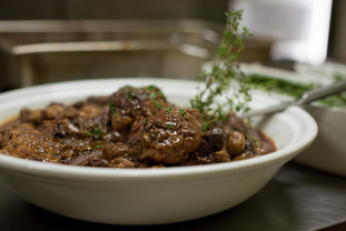 Rich lamb stew with thyme