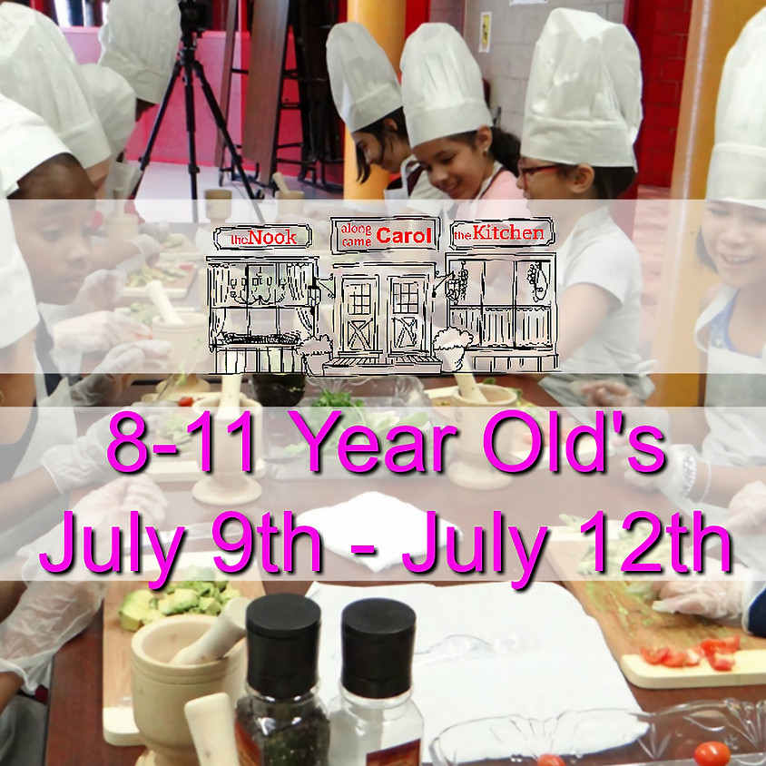8-11 Year Old's Summer Camp • July 9-12