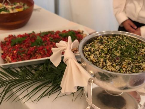 Beautiful wedding food