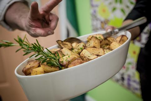 Roasted potatoes with fresh rosemary