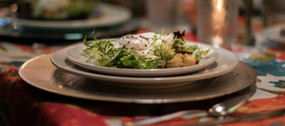 French frisee-lardon salad