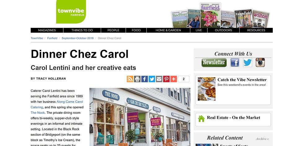 Townvibe Along Came Carol