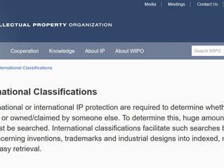 WIPO International Classifications