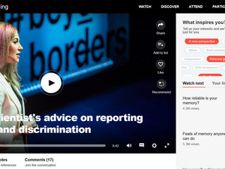 Ted talk subtitle- A memory scientist's advice on reporting harassment and discrimination