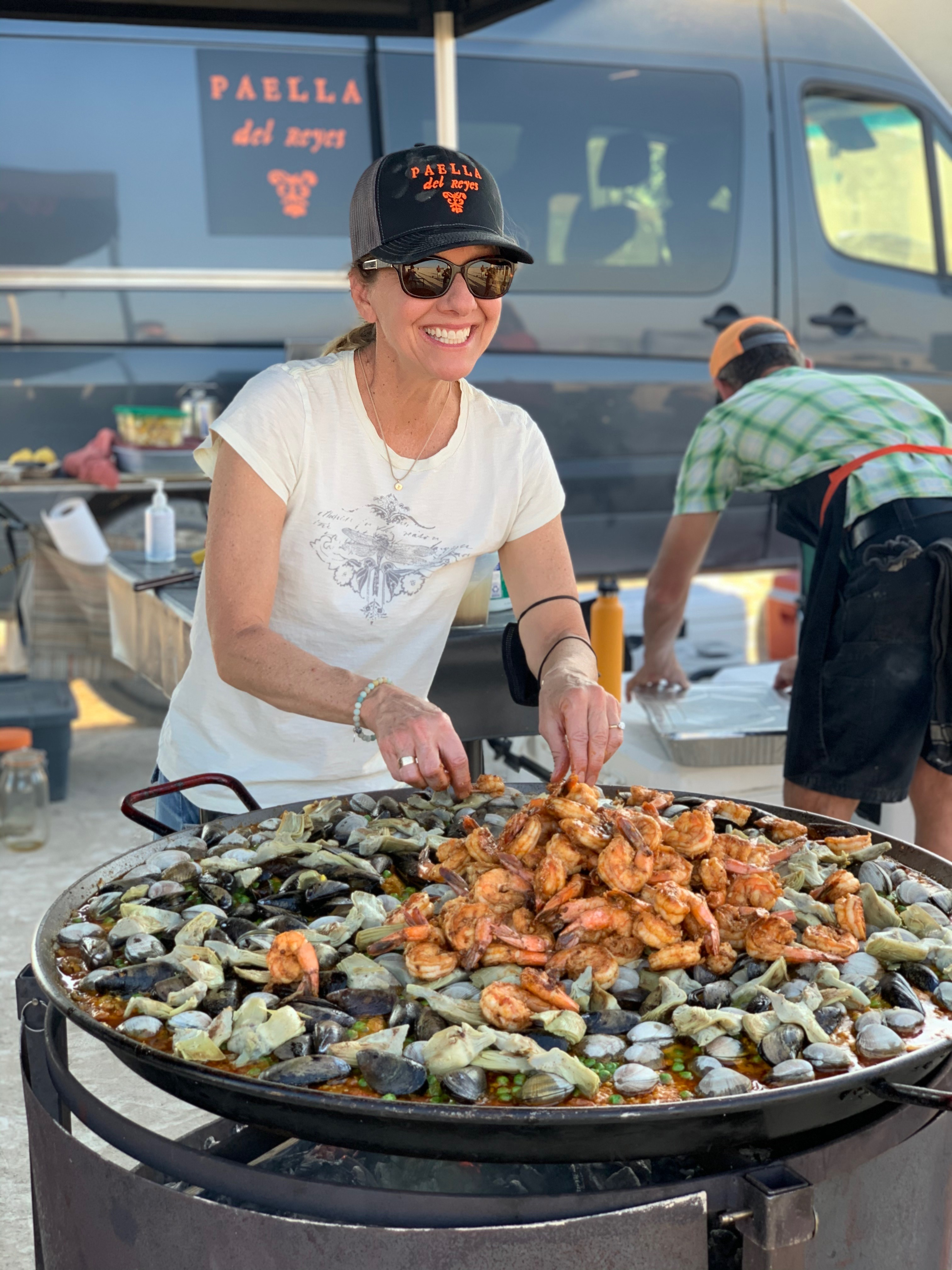 Paella on the playa