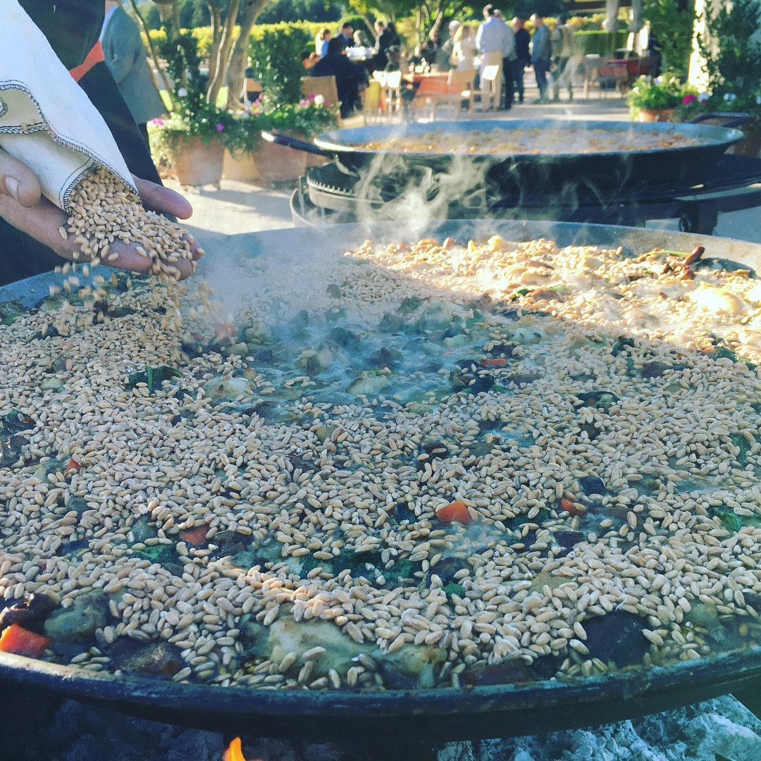 Our winter paella with farro