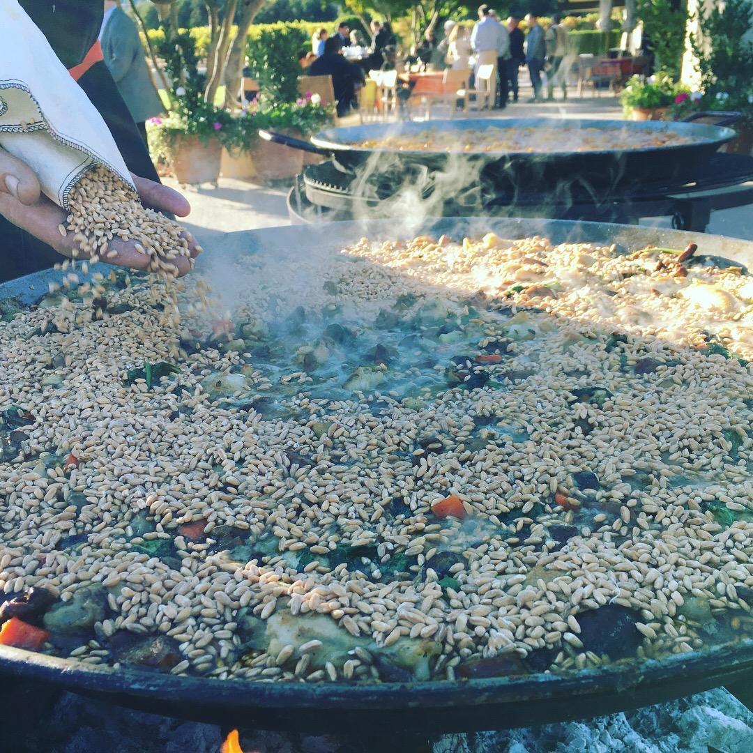 Our winter paella with farro