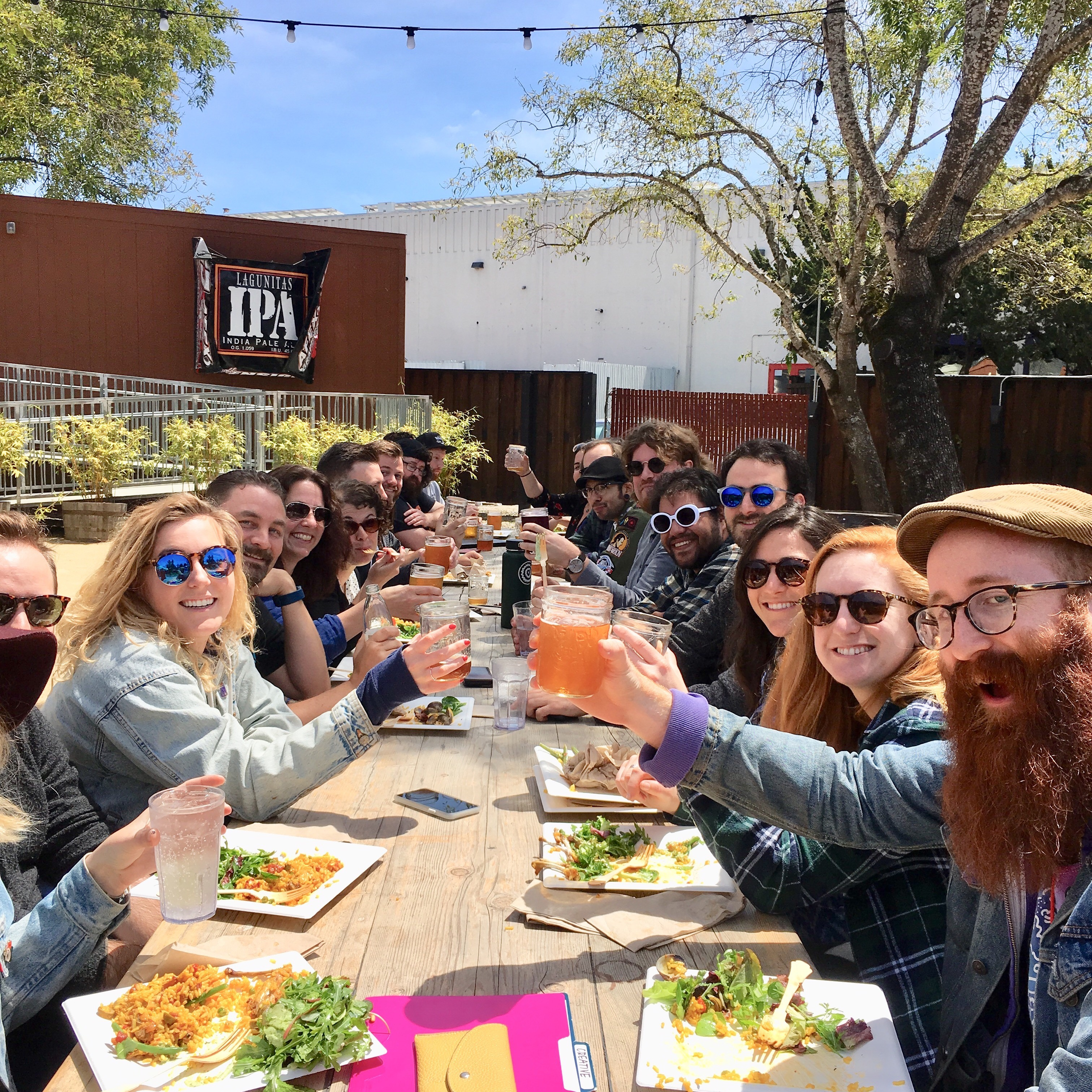 Feeding the crew at Lagunitas Brewery