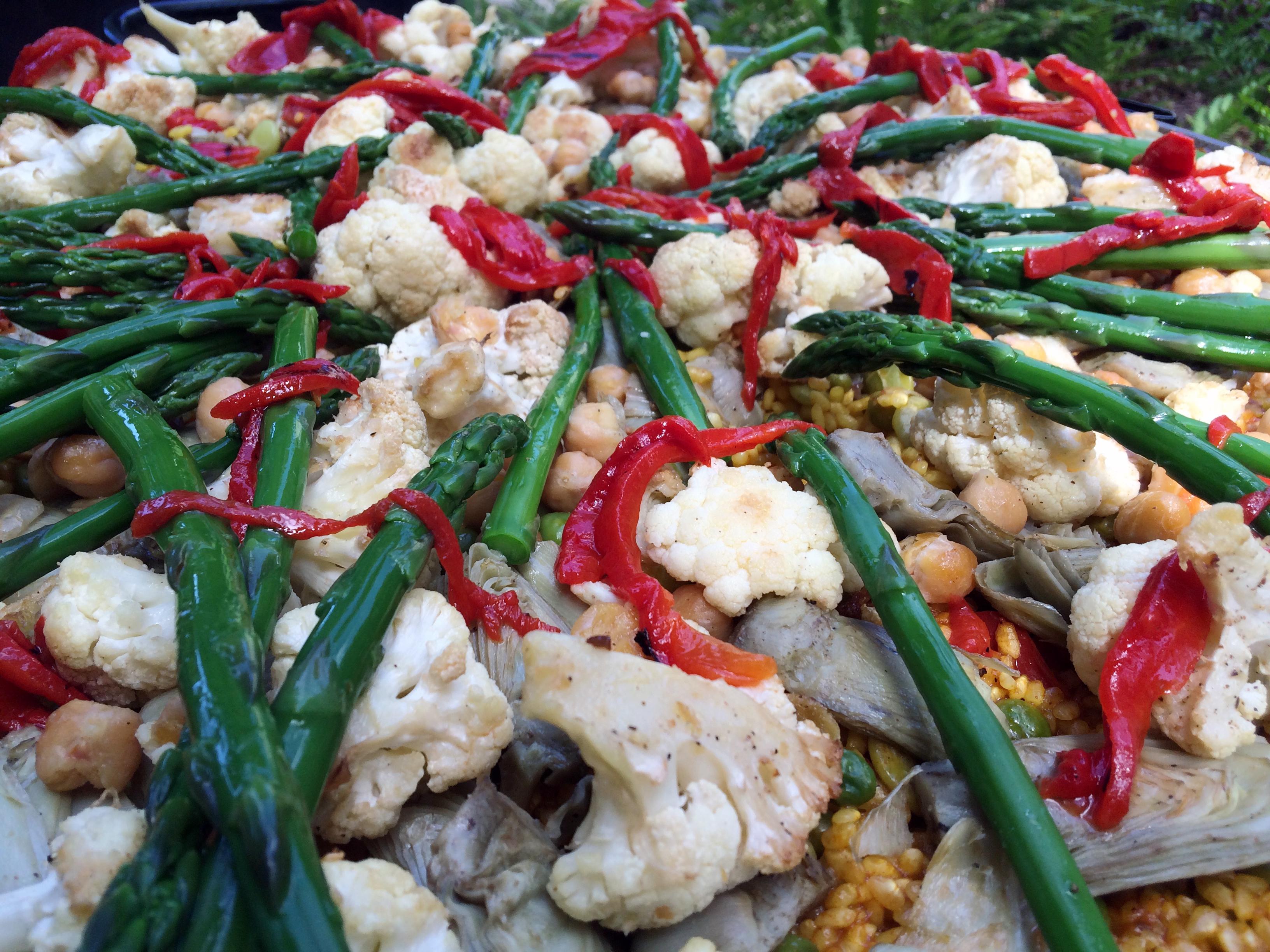 Vegi paella in Sonoma County