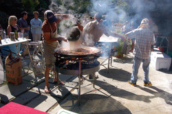 Cooking paella for 200 in Marin