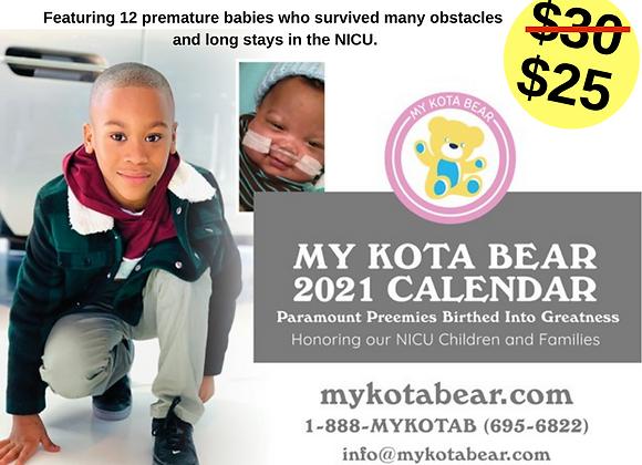 My Kota Bear 2021 Calendar Fundraiser