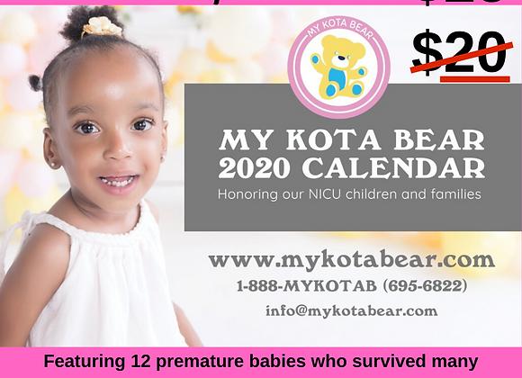 My Kota Bear 2020 Calendar
