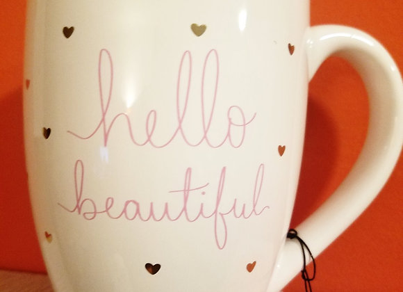 """Hello Beautiful"" Mug"