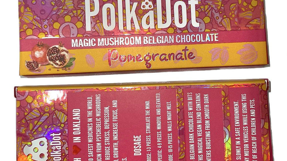 PolkaDot Magic Mushroom Belgian Chocolate