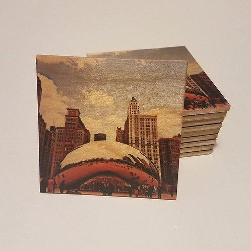 Chicago Bean Coaster
