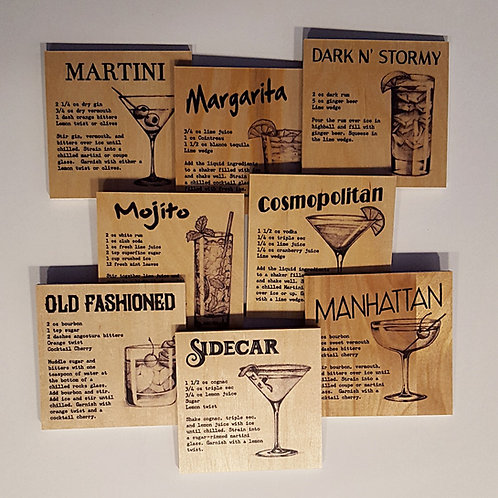 All 8 Cocktail Coasters