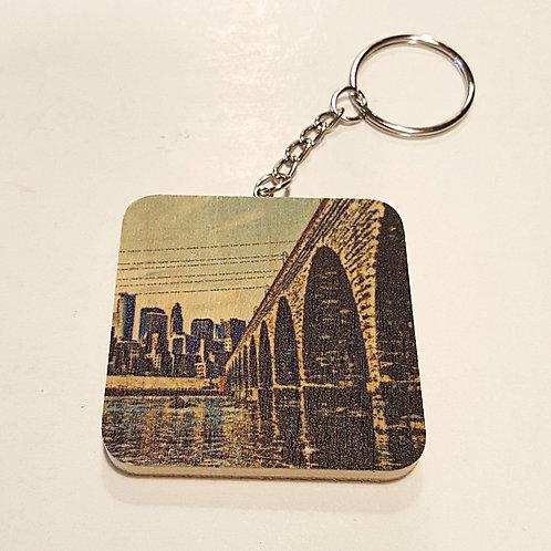 Stone Arch Bridge Keychain