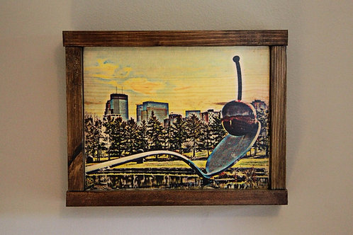"""8x10"""" Spoon and Cherry Wall Art - Color"""
