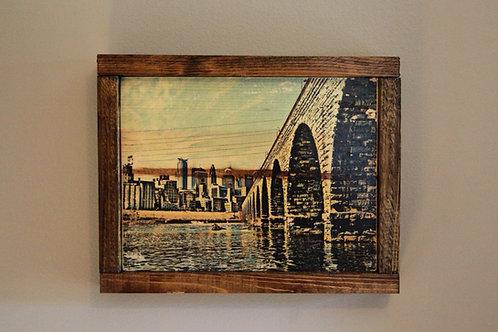 """8x10"""" Stone Arch Bridge Wall Art - Color"""