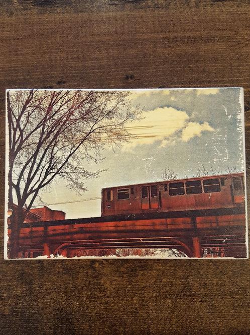 The 'L' Train Wood Block