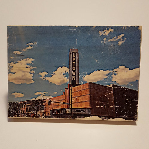 Uptown Marquee Wood Block