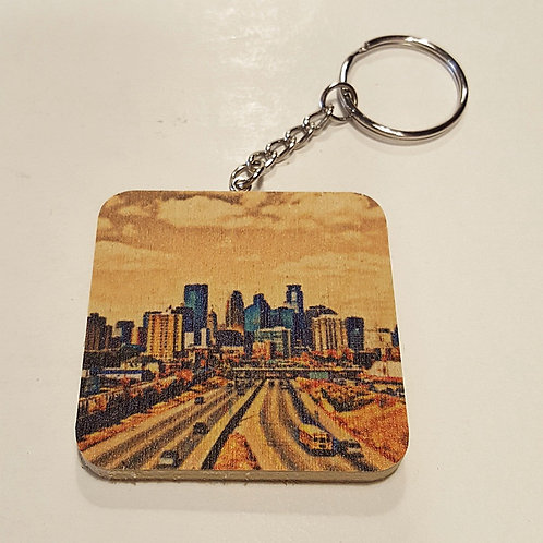 Minneapolis Skyline Keychain