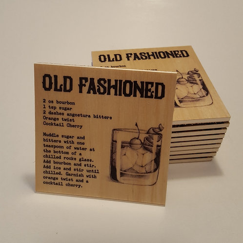 Old Fashioned Cocktail Coaster