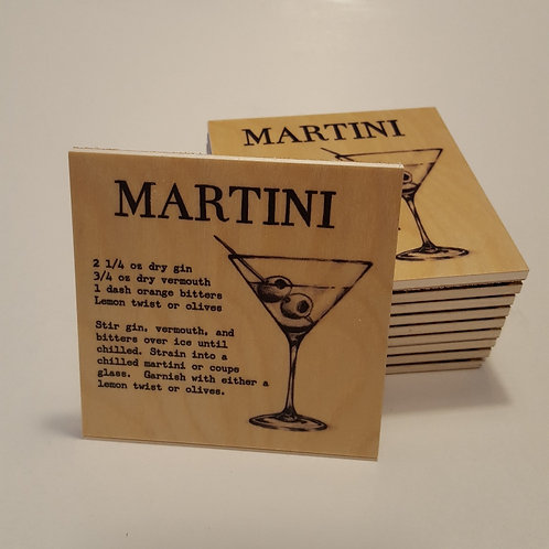 Martini Cocktail Coaster