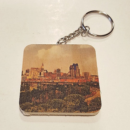 Saint Paul Skyline Keychain