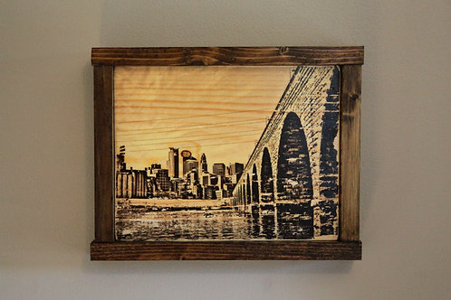 "8x10"" Stone Arch Bridge Wall Art - Sepia"