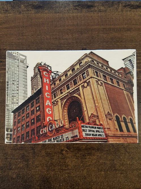 Chicago Marquee Wood Block