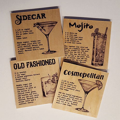Set of 4 Cocktail Coasters