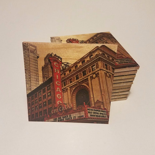 Chicago Theatre Coaster