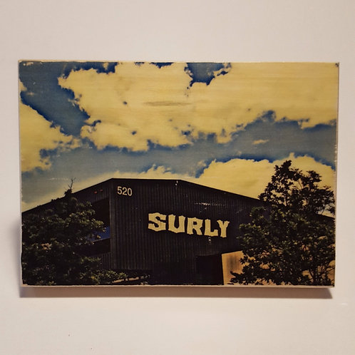 Surly Brewery Wood Block