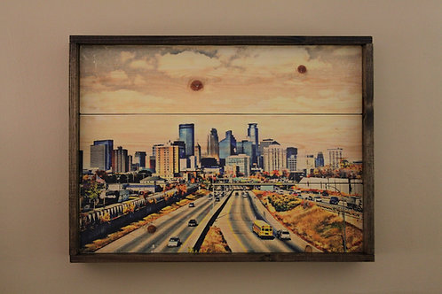 "24x30"" Minneapolis Skyline - Color"
