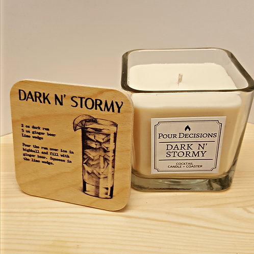 Cocktail Candle + Coaster - 4 SCENTS AVAILABLE!