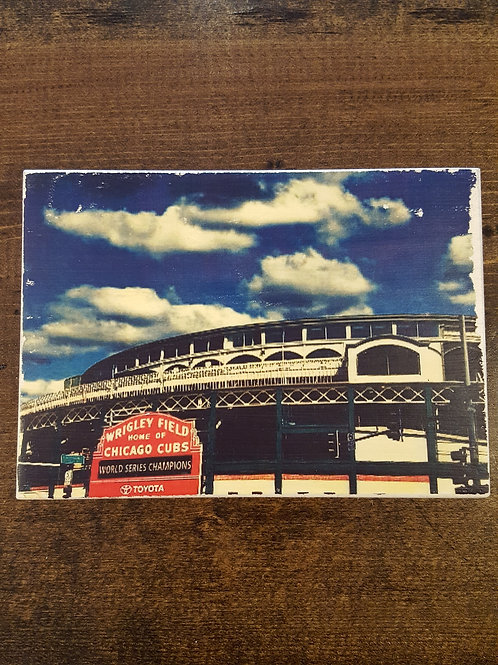 Wrigley Field Wood Block