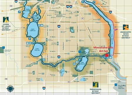 Minnehaha Falls Art Fair - Biking Map.pn