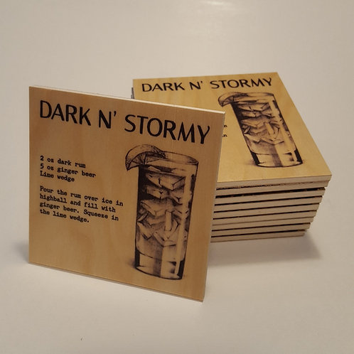 Dark N' Stormy Cocktail Coaster