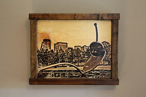 """8x10"""" Spoon and Cherry Wall Art - Sepia"""