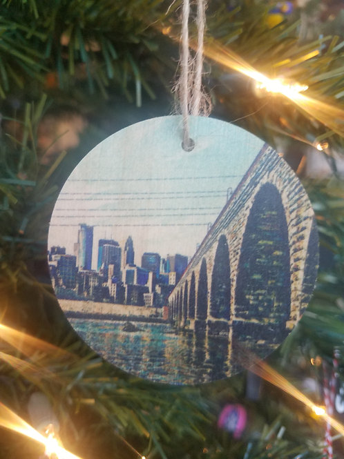 Stone Arch Bridge Ornament