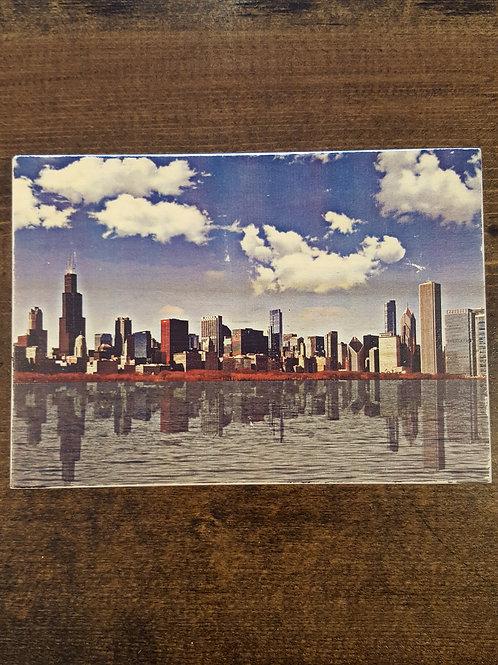Chicago Skyline Wood Block