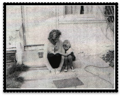 Mom (sylvia) and Daughter (Milli) both owners in photo taken in or aroun 1963 in front of Grandma Joys house farmhouse gilbert