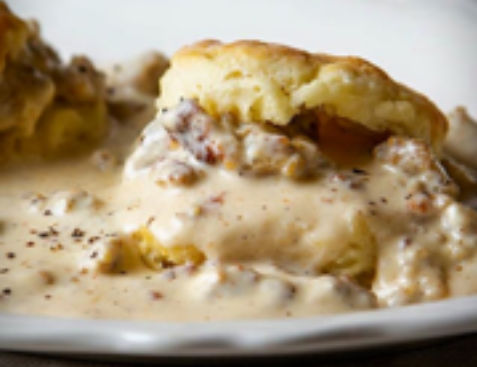 Farmhouse Gilbert Biscuits & gravy