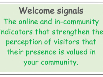 The importance of 'welcome signals' as you re-invite visitors
