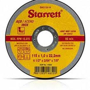 DISCO CORTE INOX 4 (115 X 1,0 X 22,3) STARRETT NO RIO DE JANEIRO