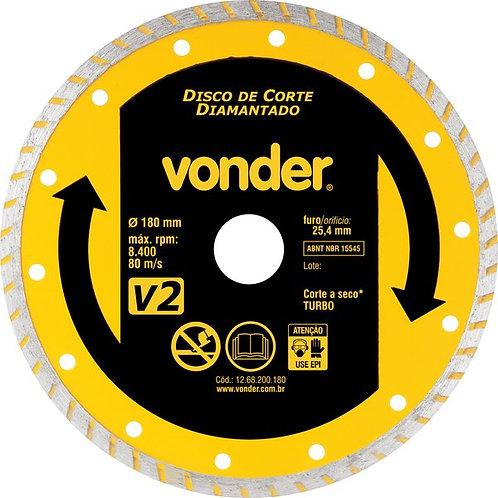 DISCO DIAMANTADO 180MM V2 REF. 12.68.200.180 VONDER