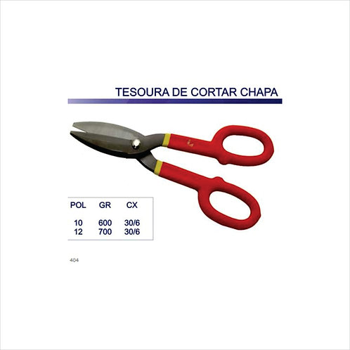TESOURA CORTA CHAPA 12 LOTUS