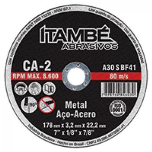 DISCO CORTE FERRO 4 1/2 (115 X 3,2 X 22,2) ITAMBÉ