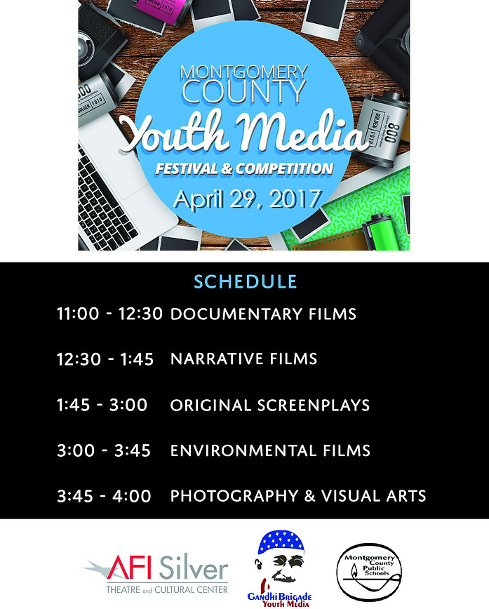 Submission guidelines for Montgomery County Youth Media Festival